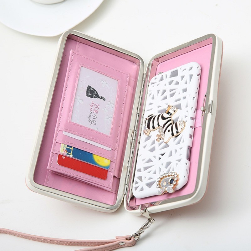 BANQLYN Women Casual Pink, White Genuine Leather Wallet(4 Card Slots)