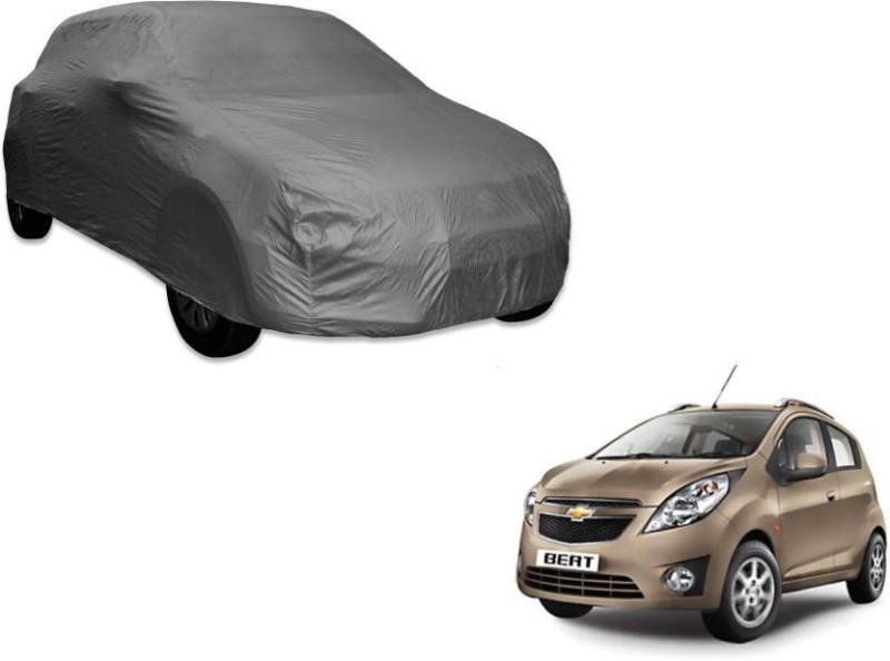A K Traders Car Cover For Chevrolet Beat (Without Mirror Pockets)(Grey)