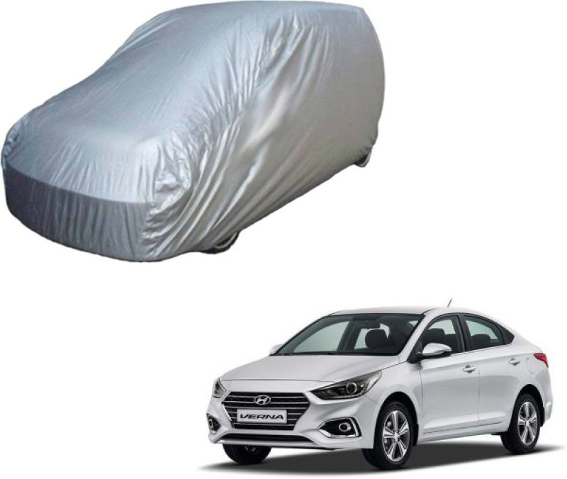 A K Traders Car Cover For Hyundai Verna (Without Mirror Pockets)(Grey)