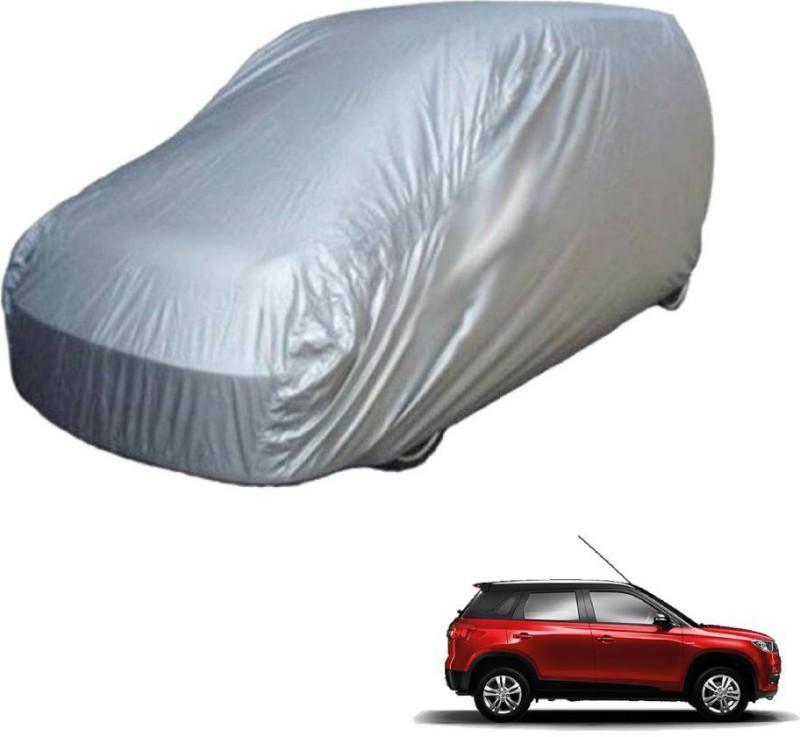 A K Traders Car Cover For Maruti Suzuki Vitara Brezza (Without Mirror Pockets)(Grey)