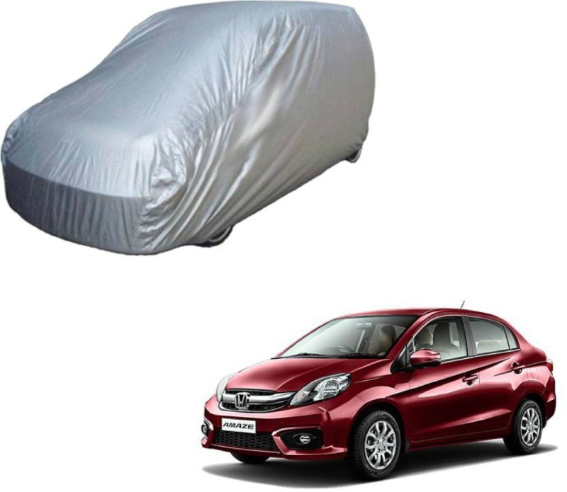 A K Traders Car Cover For Honda Amaze (Without Mirror Pockets)(Grey)