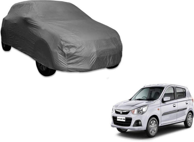 A K Traders Car Cover For Maruti Suzuki Alto K10 (Without Mirror Pockets)(Grey)