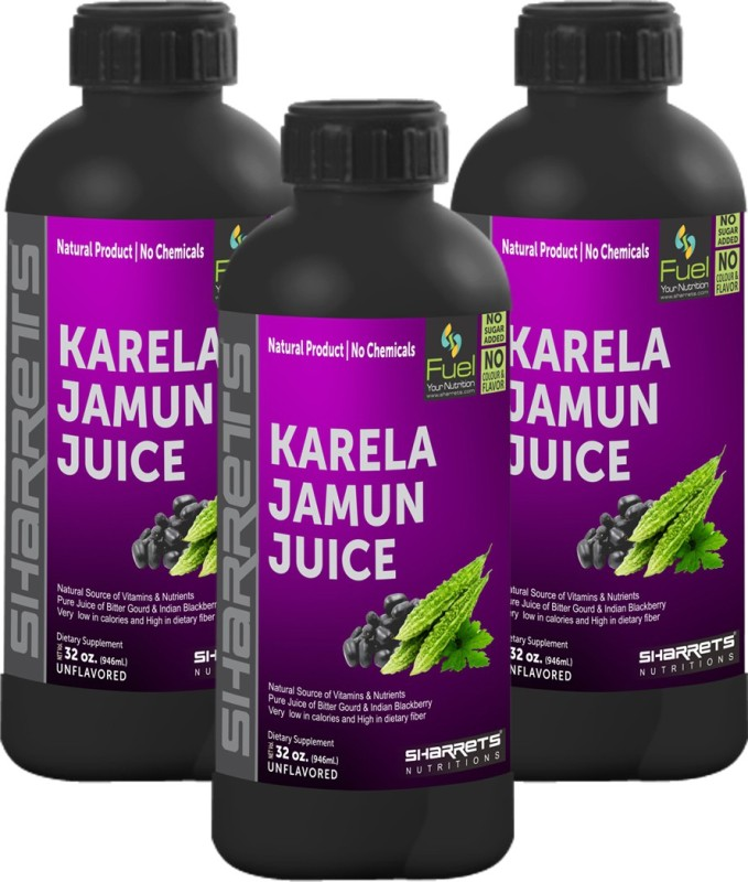 Sharrets Nutritions Karela Jamun Juice 2838 ml(Pack of 3)