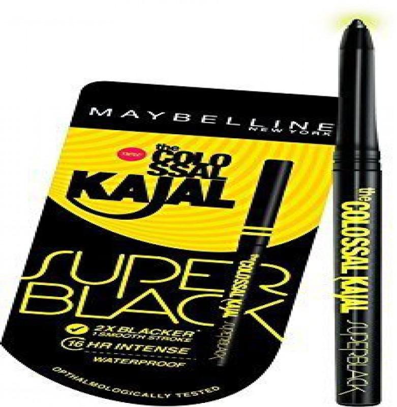 Maybelline New York Colossal Kajal, Super Black, 0.35g Pack Of 3 70 g(BLACK)