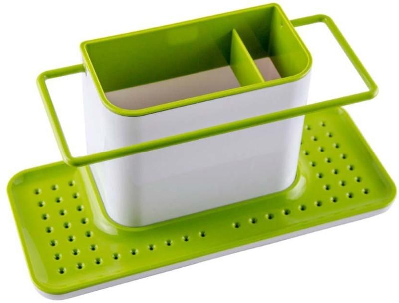 ROYALDEALSHOP Plastic Kitchen Rack(Black, Green)