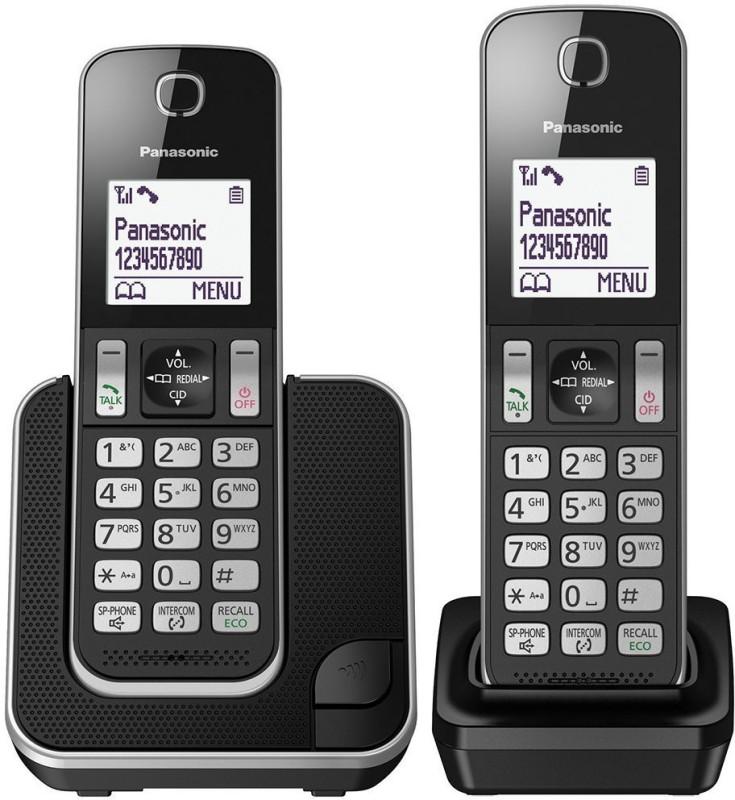 Panasonic KX-TGD312 Cordless Landline Phone(Black)
