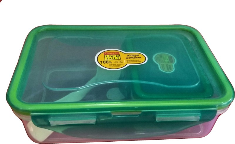 Jaypee lock tail junior 600ml 2 Containers Lunch Box(600 ml)