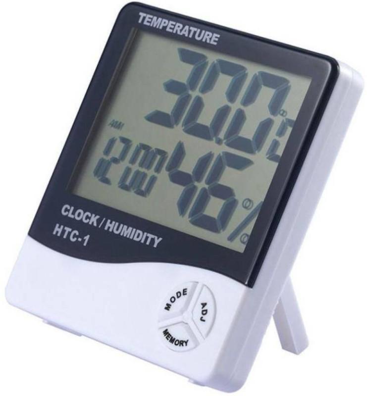 Gadget Deals HT-1 Humidity Meter Tester + Temperature Meter + Alarm Clock + Time with Pinless Digital Moisture Measurer(1 mm)