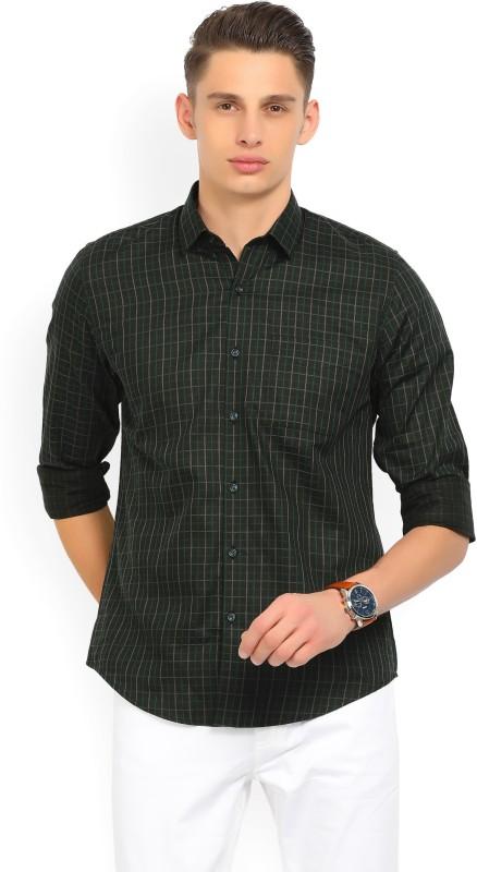 Peter England Mens Checkered Formal Multicolor Shirt