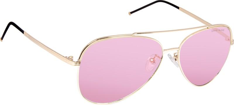 David Blake Aviator Sunglasses(Pink)