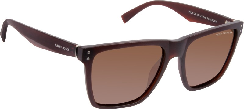 David Blake Wayfarer Sunglasses(Brown)