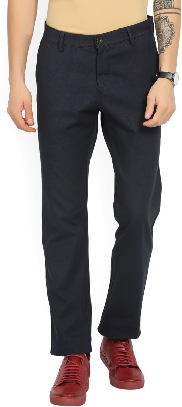 Allen Solly Slim Fit Mens Blue Trousers