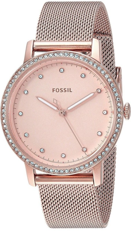 Fossil ES436 4 Neely Three-Hand Pastel Pink Stainless Steel Watch Analog Watch - For Women