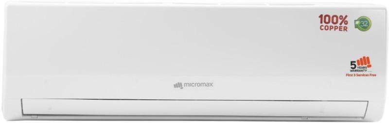 Micromax 1.5 Ton 3 Star BEE Rating 2018 Split AC - White(ACS18C3T3QS6WH, Copper Condenser)