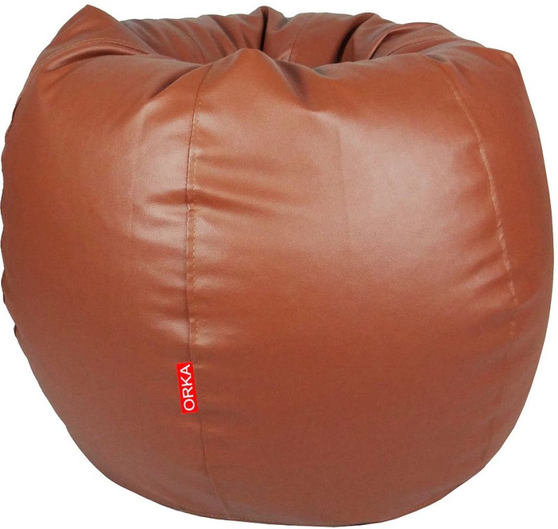 ORKA XL Bean Bag Cover (Without Beans)(Brown)