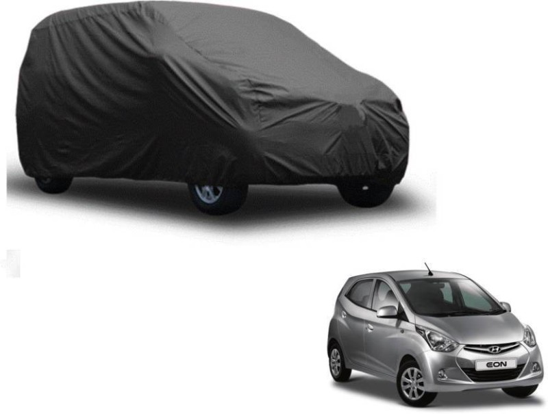 A K Traders Car Cover For Hyundai Eon (Without Mirror Pockets)(Grey)