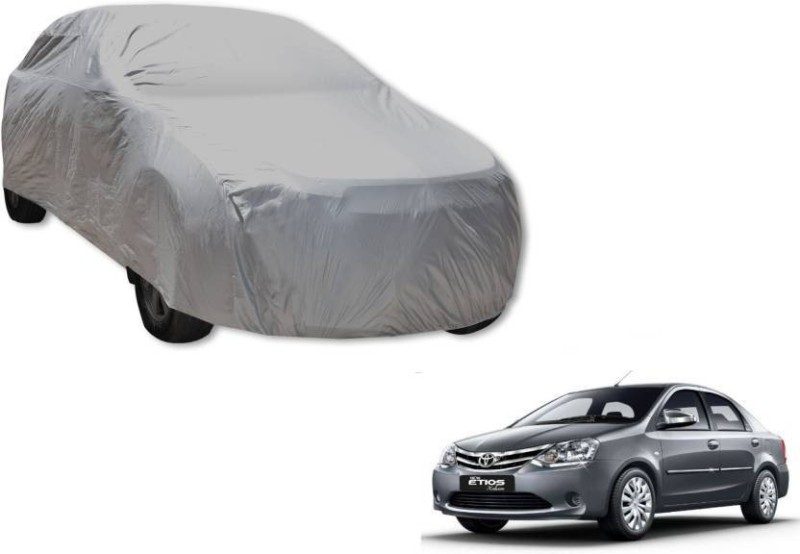 A K Traders Car Cover For Toyota Etios (Without Mirror Pockets)(Grey)