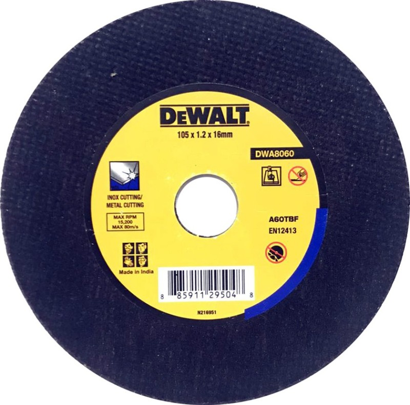 Dewalt DWA8060100 X 1.2 mm Cutting Wheel & SS (Pack of 15) Metal Cutter