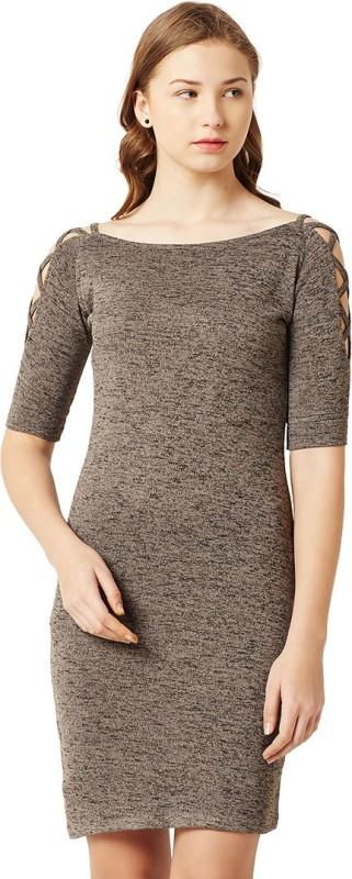 Miss Chase Women's Bodycon Grey Dress