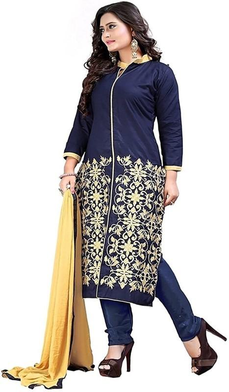 Livato Crepe Printed Semi-stitched Salwar Suit Dupatta Material
