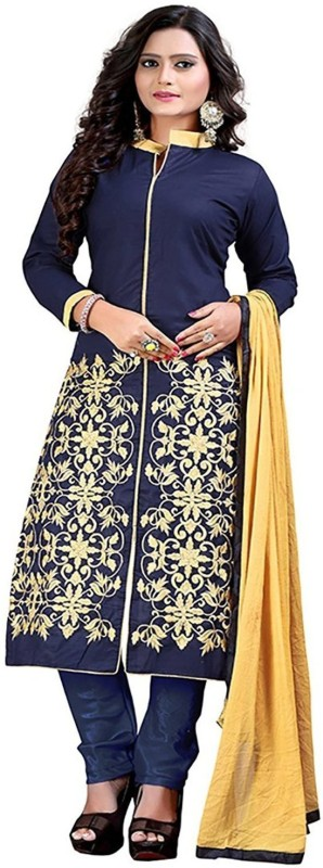 Smart Products Crepe Printed Semi-stitched Salwar Suit Dupatta Material