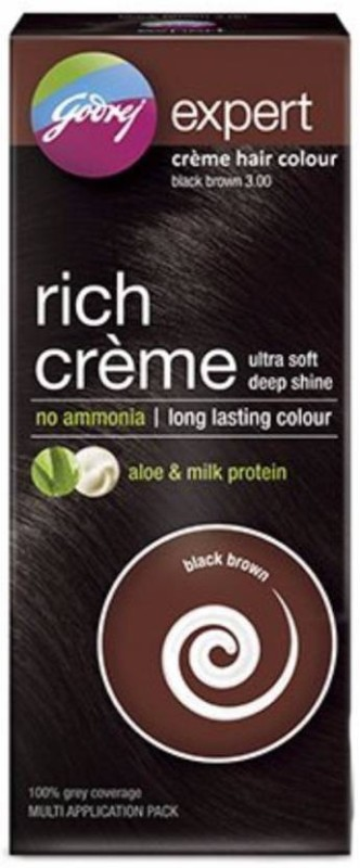 Godrej Expert Rich Creme Hair Color(Black Brown 3.0)