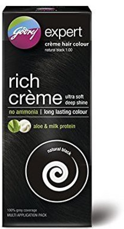 Godrej Expert Rich Creme Hair Color(Natural Black 1.0)