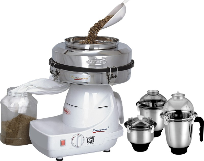 cookwell IN 750 Mixer Grinder(White, 3 Jars)