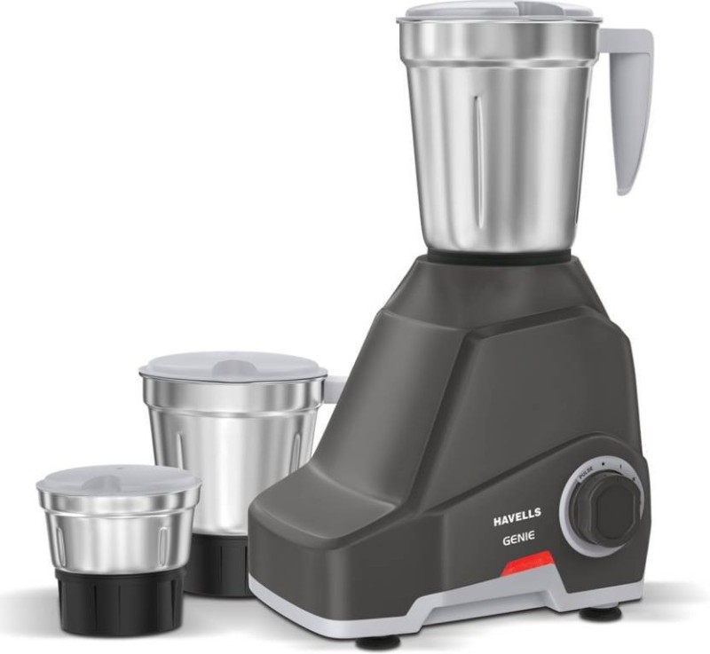 Havells Genie 500 Juicer Mixer Grinder(Dark Grey, 3 Jars)