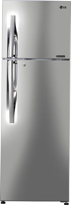 LG 335 L Frost Free Double Door 3 Star Refrigerator(Shiny Steel, GL-C372RPZU)