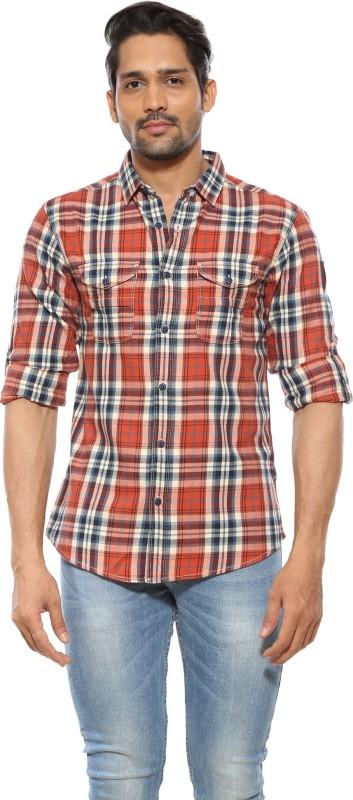 Spykar Mens Checkered Casual Cut Away Shirt