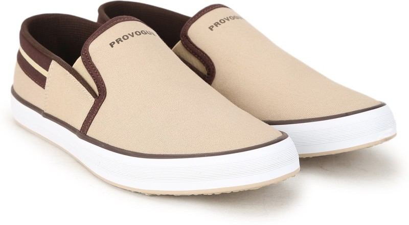 Provogue FCS-006 Canvas Shoes For Men(Beige)