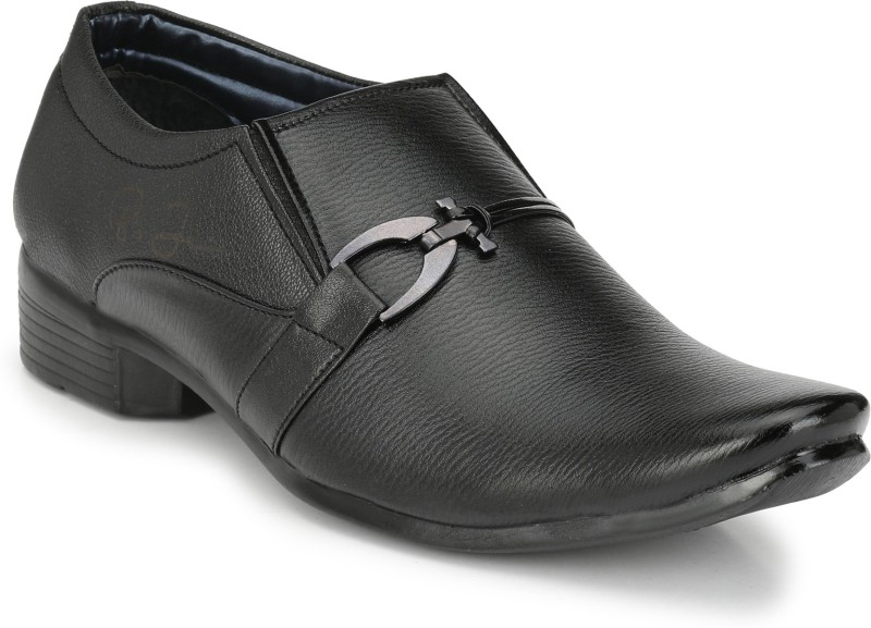 Big Junior Black Formal Shoes Slip On For Men(Black)