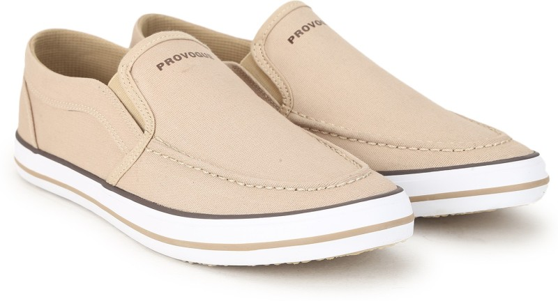 Provogue FCS-007 Canvas Shoes For Men(Beige)