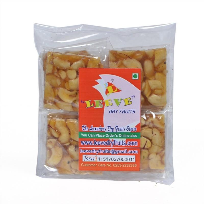 Leeve Dry Fruits Cashew Chikki | Kaaju Chikki(400 g, Pouch)