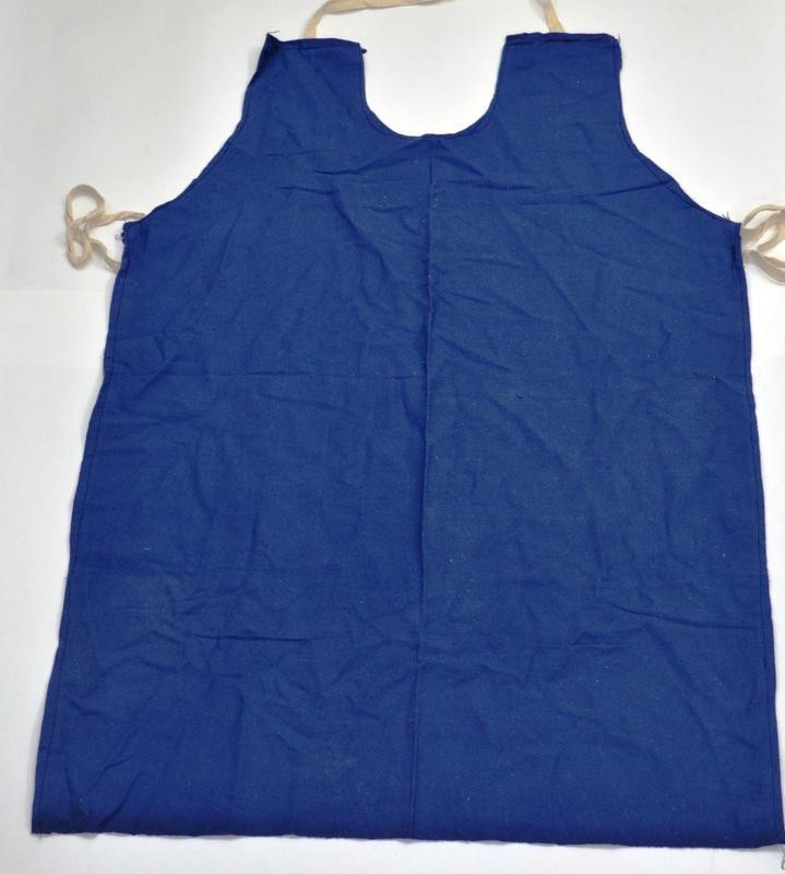 SS & WW Cotton Apron - Free Size(Blue, Pack of 5)