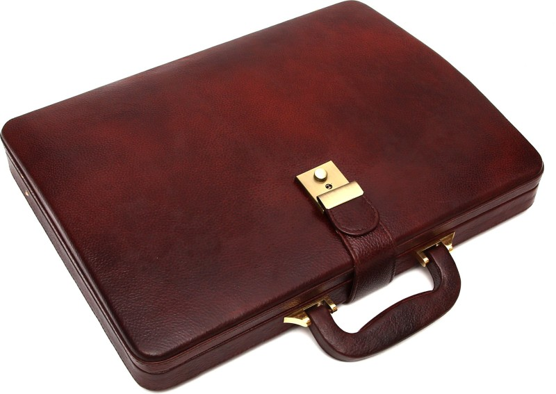 Hammonds Flycatcher 100 % Genuine Leather Briefcase Medium Briefcase - For Men & Women(Brown)