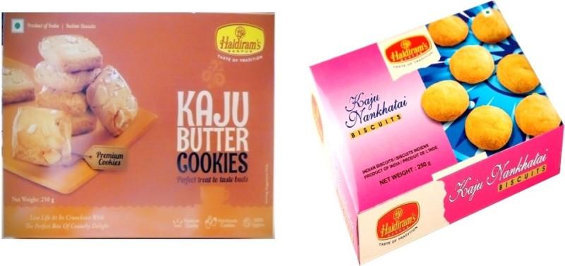 Haldiram's Kaju Butter and Kaju Nankhatai Biscuites (Combo Pack)(500 g, Pack of 2)