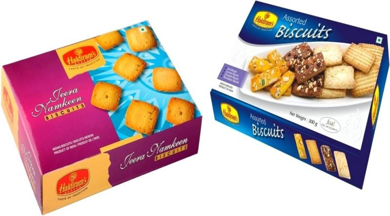 Haldiram's Jeera Namkeen and Assorted Biscuits (Combo Pack)(550 g, Pack of 2)