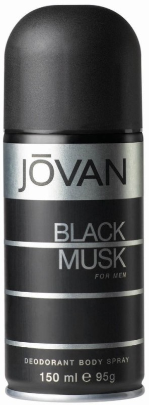 Jovan Black Musk Body Spray - For Men(150 ml)