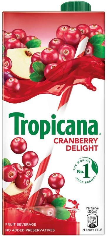 Tropicana Cranberry Delight Fruit Beverage 1 L