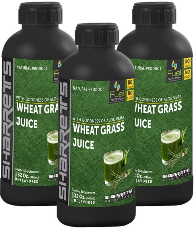 Sharrets Nutritions Wheat Grass Juice 2838 ml(Pack of 3)