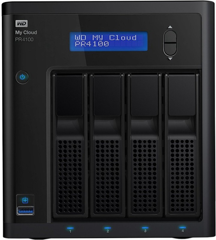 WD My Cloud Pro Series 24 TB External Hard Disk Drive with 24 TB Cloud Storage(Black)