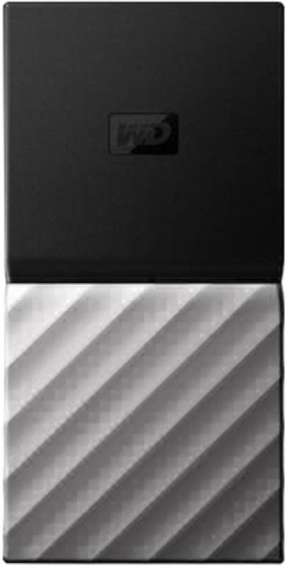 WD My Passport 512 GB Wired External Solid State Drive(Silver, Black)