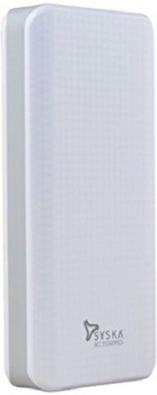 Syska 10000 Power Bank (POWER SHELL 100, SHELL)(White, Lithium-ion)