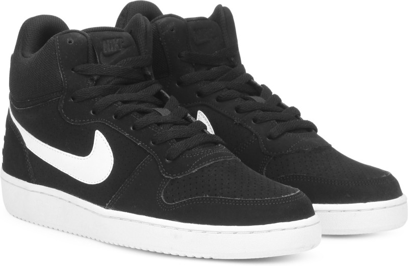 new style ce05c fd14c Nike NIKE COURT BOROUGH MID Sneakers For Men(Black)