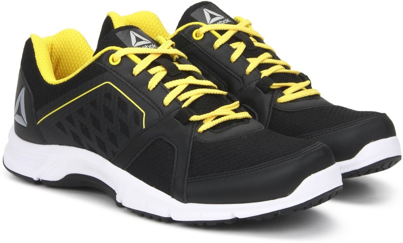Reebok EDGE QUICK EXTREME Running Shoes For Men(Black, Yellow)