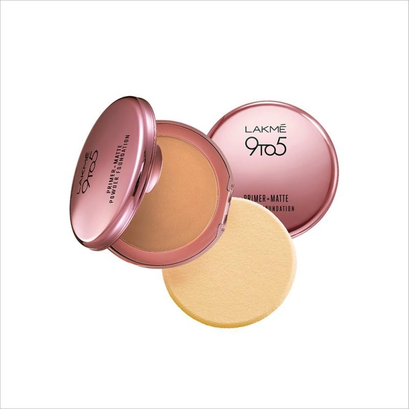 Lakme 9 to 5 Primer Plus Matte Powder Foundation Compact - 9 g(Natural Light)