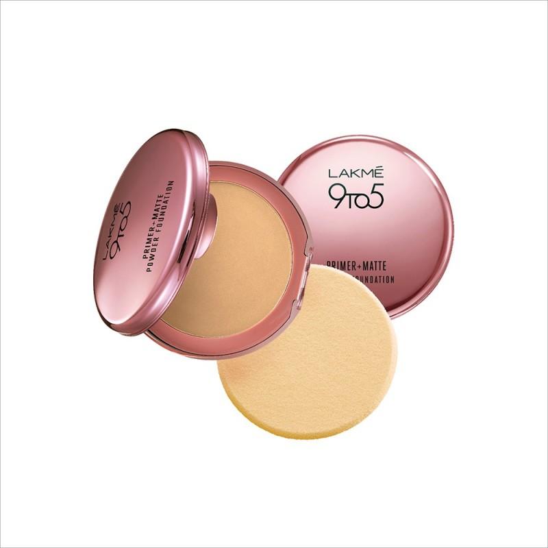 Lakme 9 to 5 Primer Plus Matte Powder Foundation Compact - 9 g(Ivory Cream)