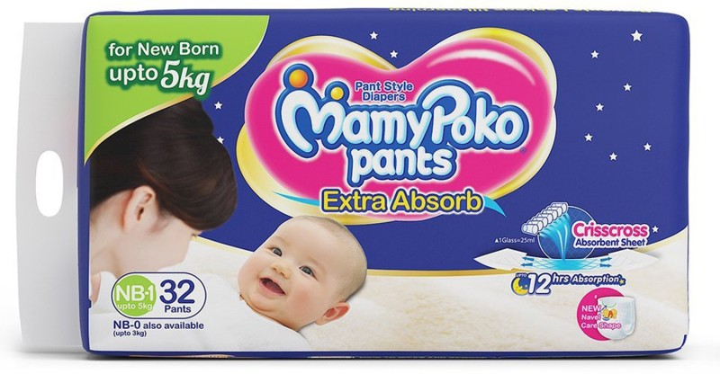 MamyPoko xs - New Born(32 Pieces)